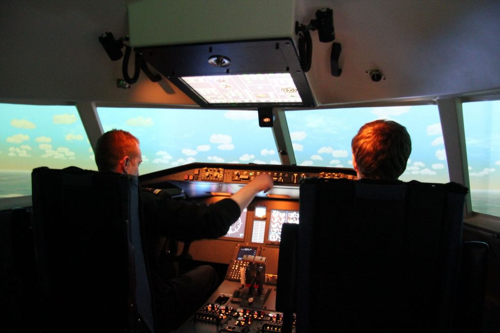 Flight simulator from the inside.