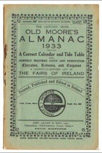 Cover of 1933 edition of Old Moore's Almanac