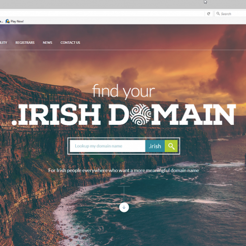 .Irish is the new .ie