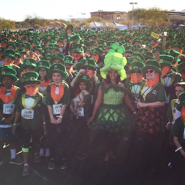 "St. Baldrick's Lepre-Con 2016 broke the world record for the ""largest gathering of people dressed as leprechauns!"" (PRNewsFoto/St. Baldrick's Foundation)"
