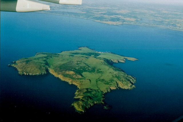 Lambay Island from the air.