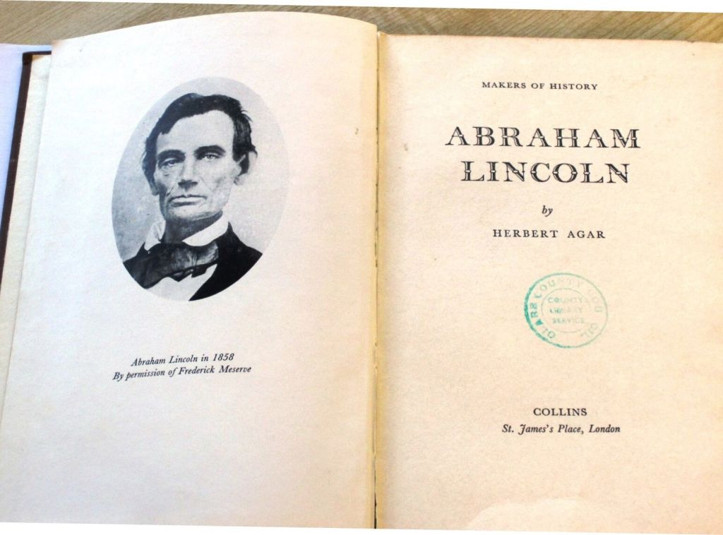 A copy of 'Makers of History; Abraham Lincoln' which was returned to Clare County Library 29 years after it was first loaned out.