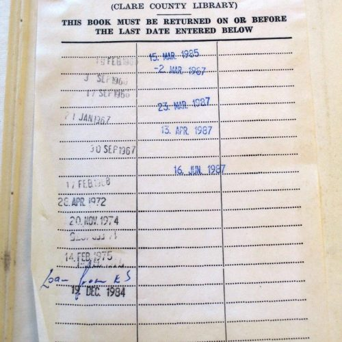 Book Returned to Clare Library After 29-Year Loan