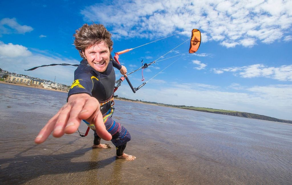 Kite-surf Instructor, Niall Roche Credit: Patrick Browne