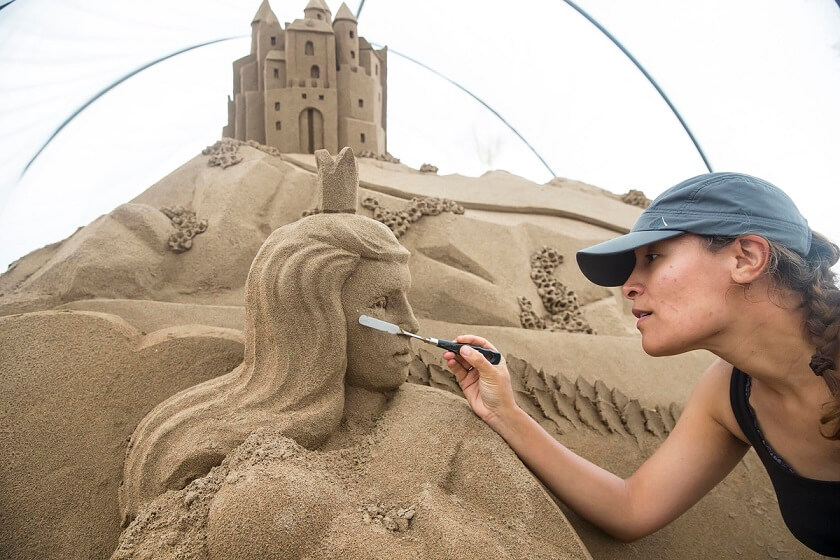 FREE TO USE IMAGE.. The 30th annual Duncannon Sand Sculpting Festival will take place on Duncannon Beach in County Wexford from Friday, August 5th to Sunday, August 7th this year. For further details on the festival see www.visitwexford.ie
