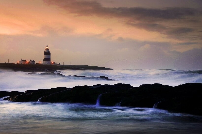 The worldÕs oldest intact operational Lighthouse, Hook Lighthouse sitting at the tip of the breathtaking Hook Head is set to host its first Harvest Moon Celebration evening on Friday, September 16th . For further details see www.hookheritage.ie - photo Fran byrne