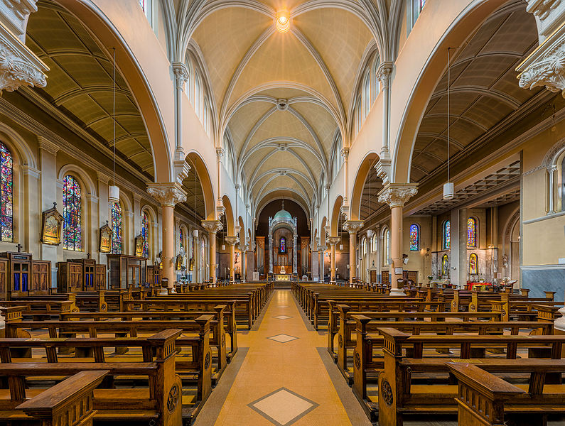 Interior of Whitefriar St Church in Dublin