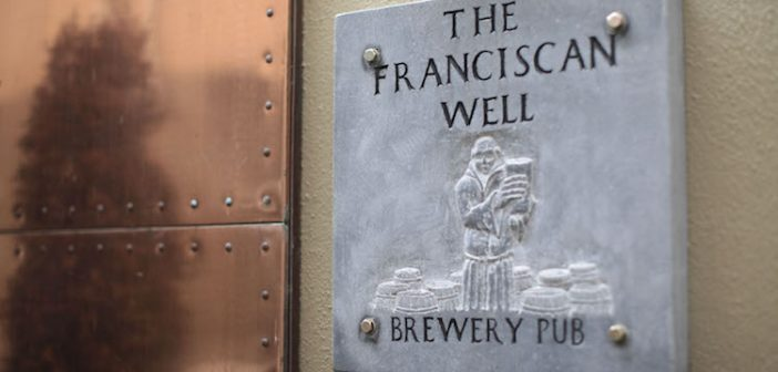 A sign for the Franciscan Well Pub in Cork