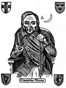 Image of a woodcut of Theophilus Moore