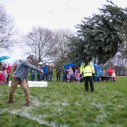 Christmas Tree Throwing Championships – Sturdy Competitors Required