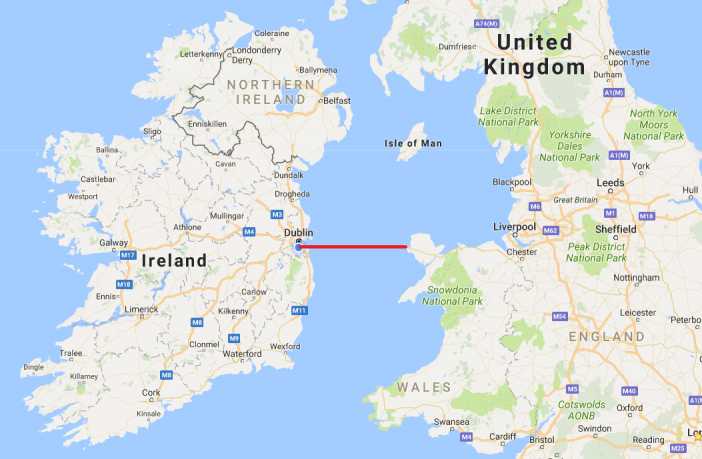 map of ireland and britain