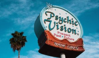 sign saying psychic vision