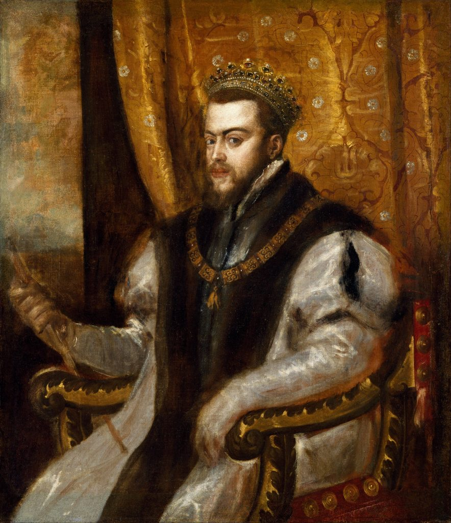 Painting of Philip of Spain by Titian circa 1550