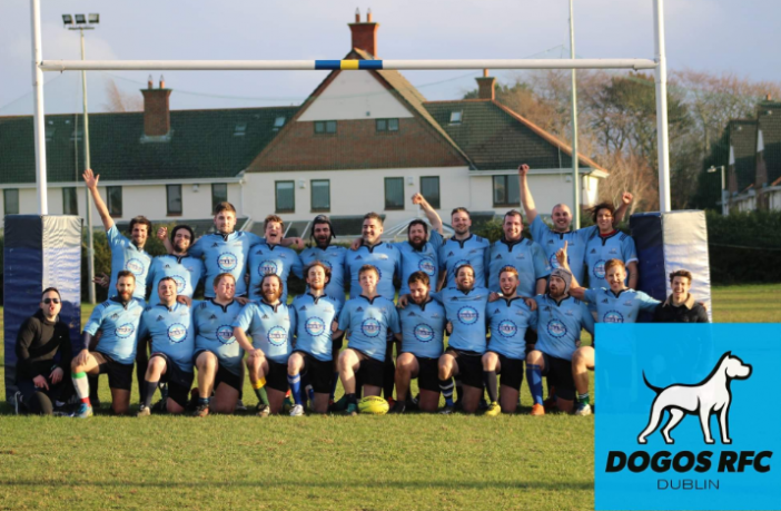 Dublin Dogos rugby club team photo