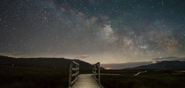 evening scene with starry sky