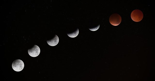 photo showing moon phases