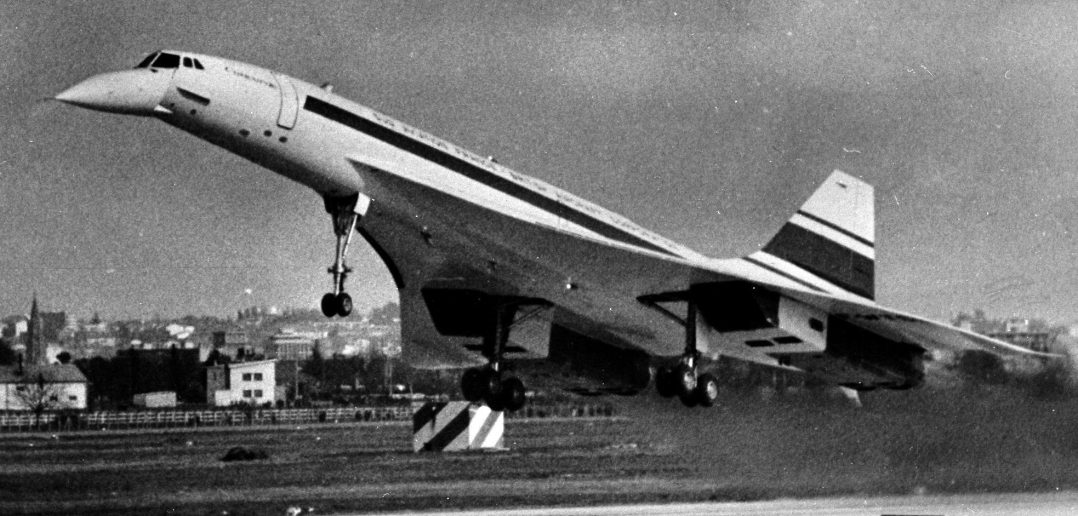 Concorde's first test flight 1969