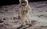 astronaut on the surface of the moon 1969