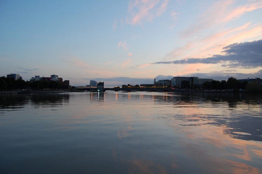 View of Limerick and Shannon estuary