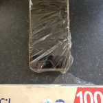 smartphone wrapped in plastic bag