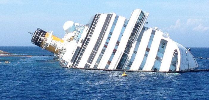 The capsized Costa Concordia cruise liner