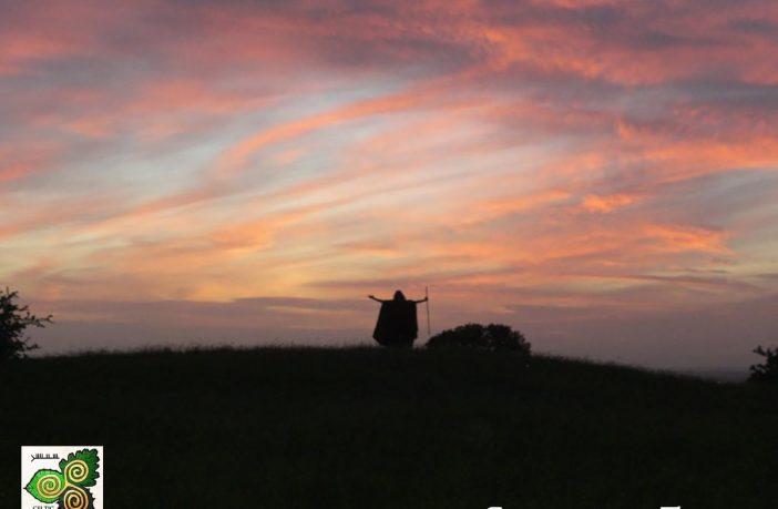Druid at sunrise