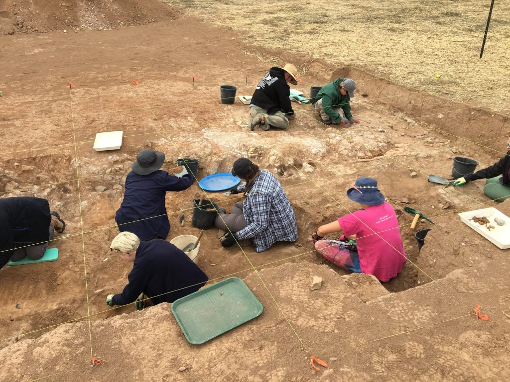 Archaeologists working on site at the Baker's Flat dig