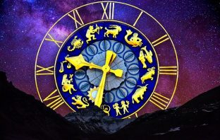 clock with zodiac signs instead of numbers